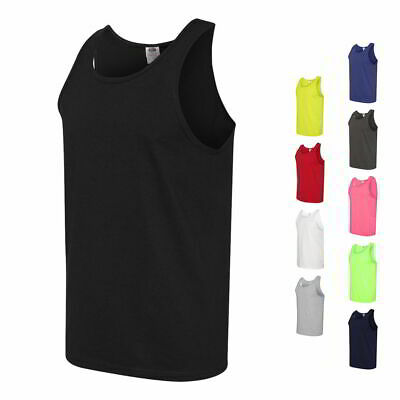 Fruit of the Loom Heavy 100% Cotton HD Mens Sleeveless Tank Tops 39TKR