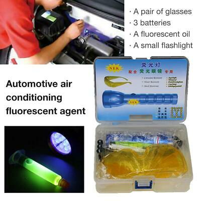 A/C System Car Fluorescence Leak Test Detector Flashlight Protective Glasses UV