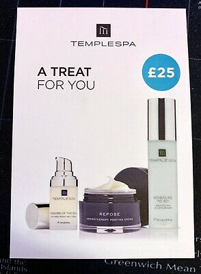 TEMPLESPA Gift Card Cosmetic Gift Voucher £25 online code (BRAND NEW)