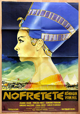 "orginal Plakat Poster Film Movie "" Nofretete Königin vom Nil "" 1961"