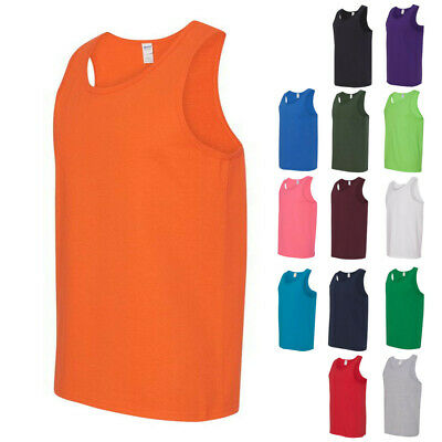 Gildan Mens Sleeveless Tops Tees Shirts Heavy Cotton Tank Top