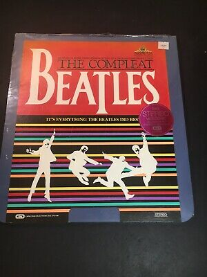 The Compleat Beatles - CED VideoDisc (1982) New W/ Ripped Seal
