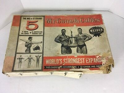 Vintage Weider Mr. Canada Cables Weight Training In Box