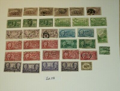 Lot 08 (34)  Used U.S. STAMPS Off Paper; Possible 1880's-90's  to 1940's-50's.