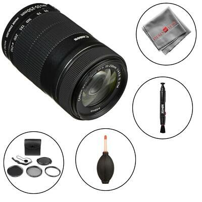 Canon EF-S 55-250mm f/4-5.6 IS STM Lens and cleaning accessories