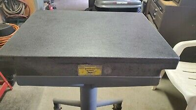 Continental Granite Surface Plate TABLE WITH STAND Grade A, Accuracy .000050