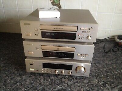 denon amplifier cd player cassette dra f100 excellent bluetooth