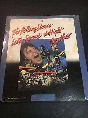 The Rolling Stones Lets Spend The Night Together CED VideoDisc New W Ripped Seal