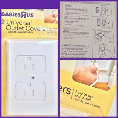 ◼️BABIESRUS 2 Universal Outlet Covers Easy To Install {Brand New}⬛️
