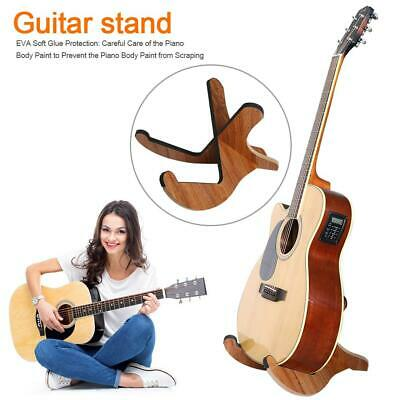 Portable Foldable Wooden Holder Display Stand for Folk Classical Acoustic Guitar