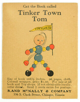 Rare Tinker Town Tom (Tinker Toys) Advertising Booklet for the Book Esther Ames