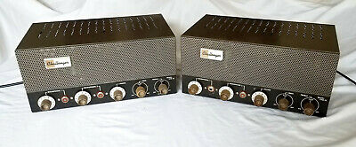 Nice Pair Bogen Challenger CHA33 Tube Amplifiers 6L6GB Audio Guitar Amps Works!