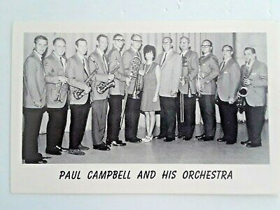 """Awesome Photo Postcard """" Paul Campbell And His Orchestra"""""""