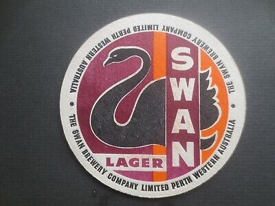 """1 only SWAN DRAUGHT Early 1960,s Issue """"Mint Condition"""" collectable COASTER"""