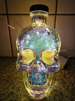 Crystal Head Aurora lamp skull vodka light bulb cool fancy birthday present art