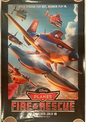 """PLANES: FIRE & RESCUE Original Movie Poster 27"""" X 40"""" DS/Rolled - 2014 - DISNEY"""