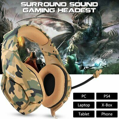 K1 Stereo Bass Surround Gaming Headset for PS4 Slim Pro New Xbox One PC Camo