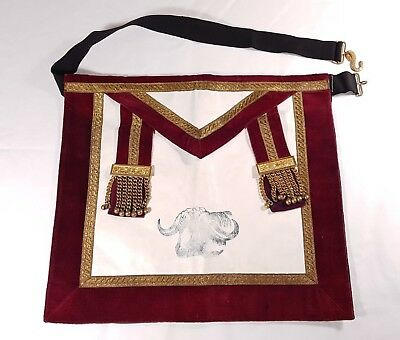 RAOB Apron Regalia Lodge Royal Order Buffaloes Vestments Mason Masonic KOM Primo