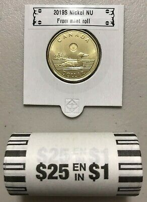 CANADA 2019 New $1 LOONIE ORIGINAL COMMON LOON (UNC Directly from mint roll)