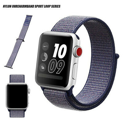 Nylon Woven Sport Loop Band Strap Wrist For Apple Watch iWatch Series 3/2/1 22mm