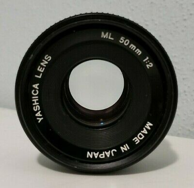 Yashica CY Mount ML 50mm f/1:2 Lens Excellent