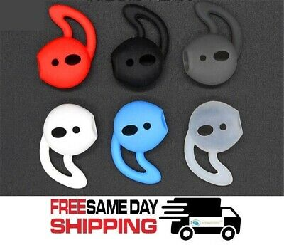 Pair Ear Hooks Silicone Skin Cover Fits Apple AirPods AirPod Headphones