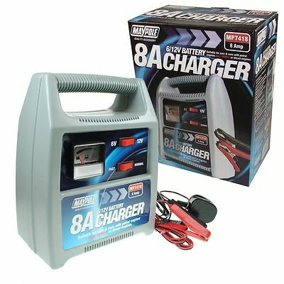Maypole MP7418 8A Battery Charger 12V Car Van Motorbike Quad