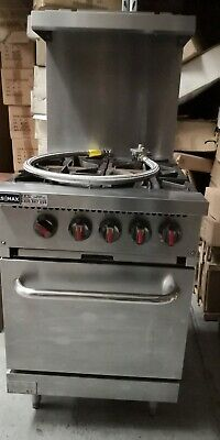 Commercial 4 Burner Gas Stove & Oven With  Flame Failure Protect GasMax 24s(T)