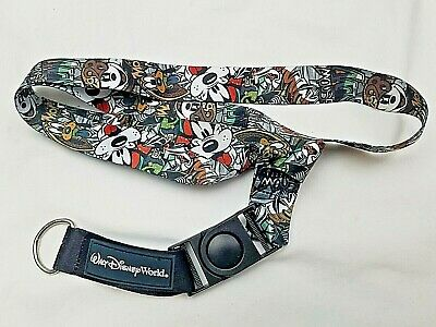 Authentic Disney Parks Black And White Oswald Pin Lanyard Trading Pins