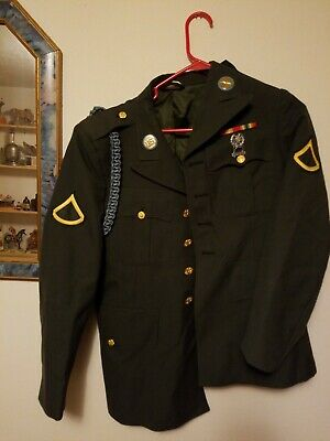 Us Army Coat With Patches