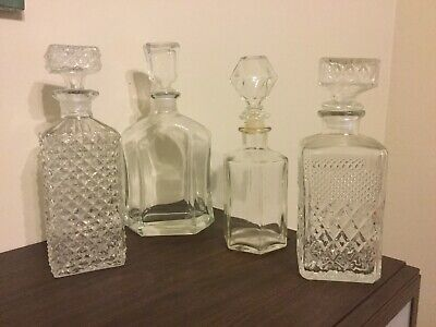 Vintage Glass Decanters Maybe One Chrystal?