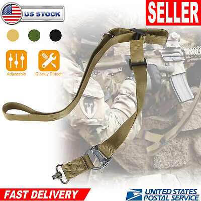 Adjustable Retro Tactical Quick Detach 2 Point Multi Mission Rifle Sling US