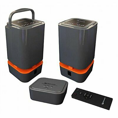 Wolverine WI 58GHz Wireless Stereo OutdoorIndoor Portable Speaker System
