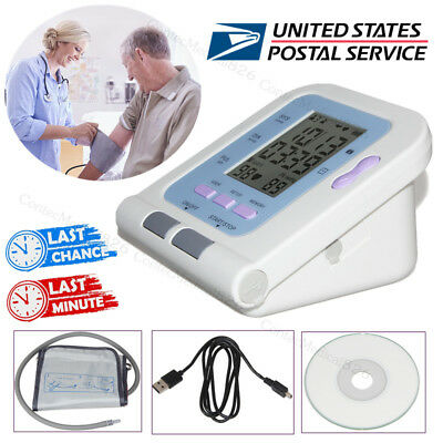 Automatic Blood Pressure Monitor Digital Upper Arm Measure NIBP Heart Rate Pulse