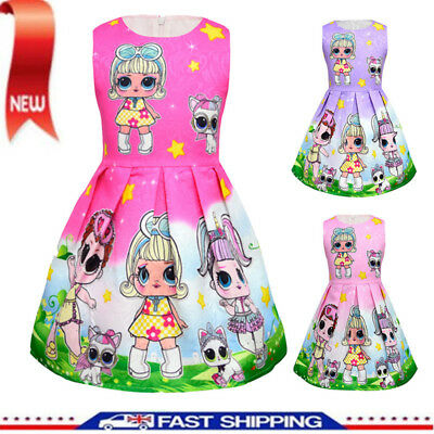 New Girls Lol Surprise Doll Princess Dress Kids Party Holiday Birthday Dresses