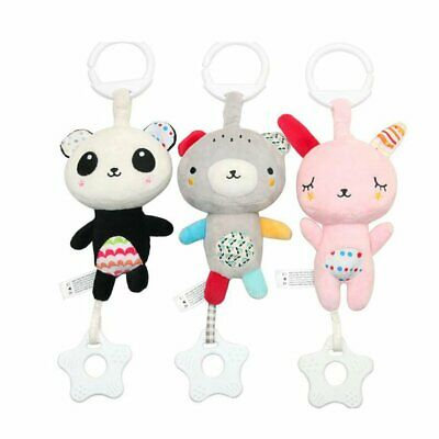 Cartoon animal Voice music baby car hanging toy infant Sleeping soothing Toys A