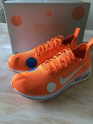 Nike Zoom Fly Mercurial Off-White Total Orange - AO2115 800  Size 10 Vnds