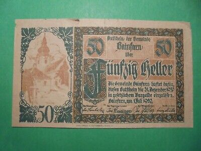 Old German Banknote 1920.