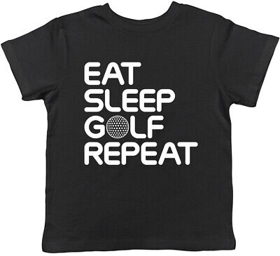 Eat Sleep Golf Repeat Boys Girls Childrens Kids T-Shirt