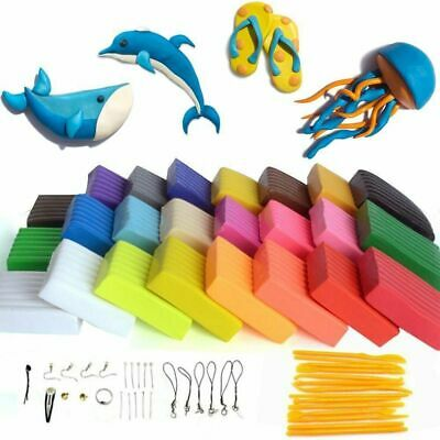 Polymer Clay Oven Bake Set,24 Color DIY Modeling Clay for kids, Oven Bake Clay