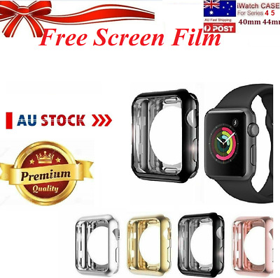For Apple Watch 360* Series 4 5 iWatch 40 44mm Perfect Fit Screen Protector Case