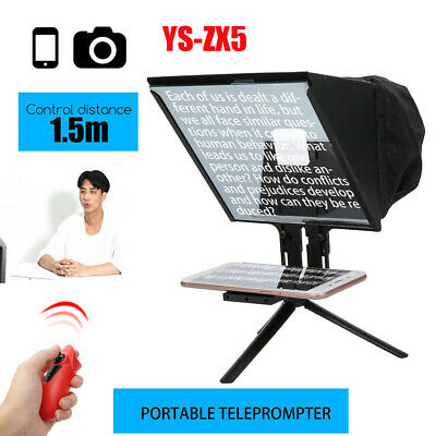YS-ZX5 Camera Teleprompter for Live Broadcast Interview Wireless Handle Control