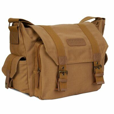 Durable Canvas Camera Bag Shockproof Shoulder Messenger for Canon Sony Nikon SLR