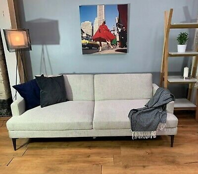 Groovy John Lewis Andes Large Double Futon Sofa Bed Stone Twill Creativecarmelina Interior Chair Design Creativecarmelinacom