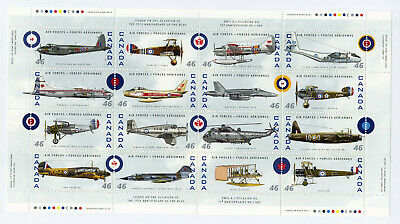 Canada Sc1808 Canadian Air Forces 1924-1999 Souvenir Sheet Mnh Fv$7.36
