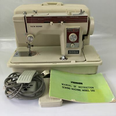 New Home Janome Model 580 Electric Sewing Machine Silk Fully Working with Cams