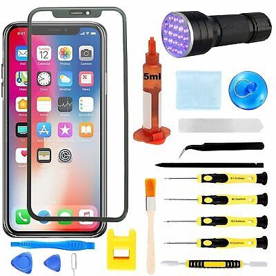 For iPhone X Screen Glass Lens Front Touch Screen Replacement Repair Tools Glue