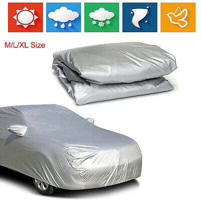M-XL Full Car Cover Outdoor Protector Anti Scratch Dust Sun Resistant For Sedan