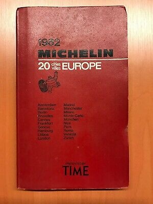 Guide Michelin Europe 1982 , Edition Spéciale Time