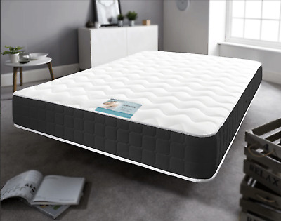 Black Memory Foam Spring - Single, Small ,Double ,King Size ,Super King Mattress